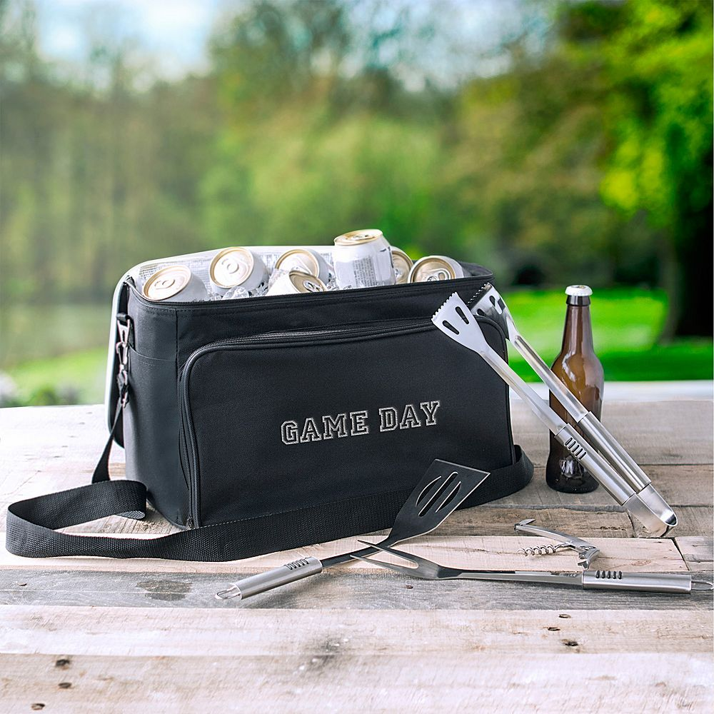 Game cooler bags - Cathy S Concepts Game Day Tailgate Cooler With Grill Tool Set