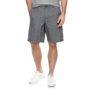 Men's Marc Anthony Slim-Fit Houndstooth Linen-Blend Shorts