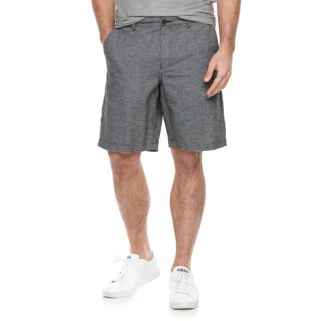 Men's Marc Anthony Slim-Fit Houndstooth Linen-Blend Shorts