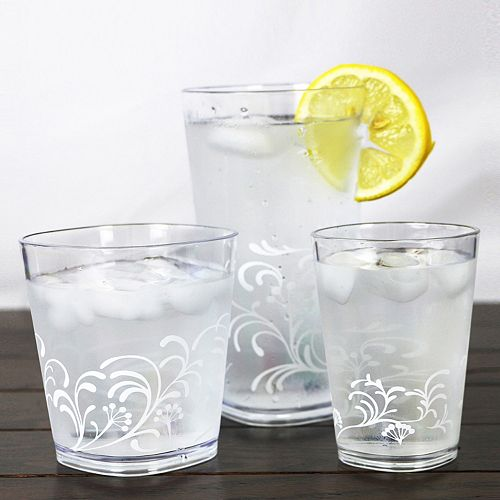 Corelle Cherish 6-pc. Acrylic Square Glass Set