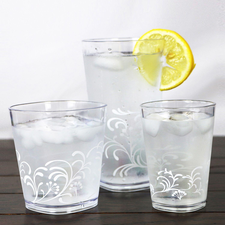 Corelle Cherish 6 Pc. Acrylic Square Glass Set