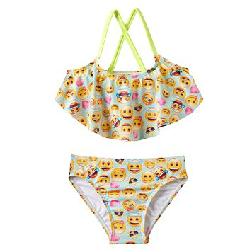 Girls 4-6x Freestyle Revolution Emoji Tankini Swimsuit Set