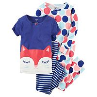 Girls 4-12 Carter's 4-pc. Pattern Pajama Set