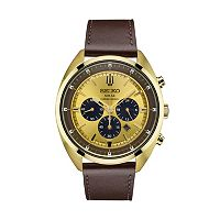 Seiko Men's Recraft Leather Solar Chronograph Watch - SSC570