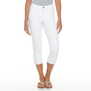 Women's Gloria Vanderbilt Jordyn Embroidered Capri Jeans