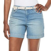 Women's Gloria Vanderbilt Marisa Belted Shorts