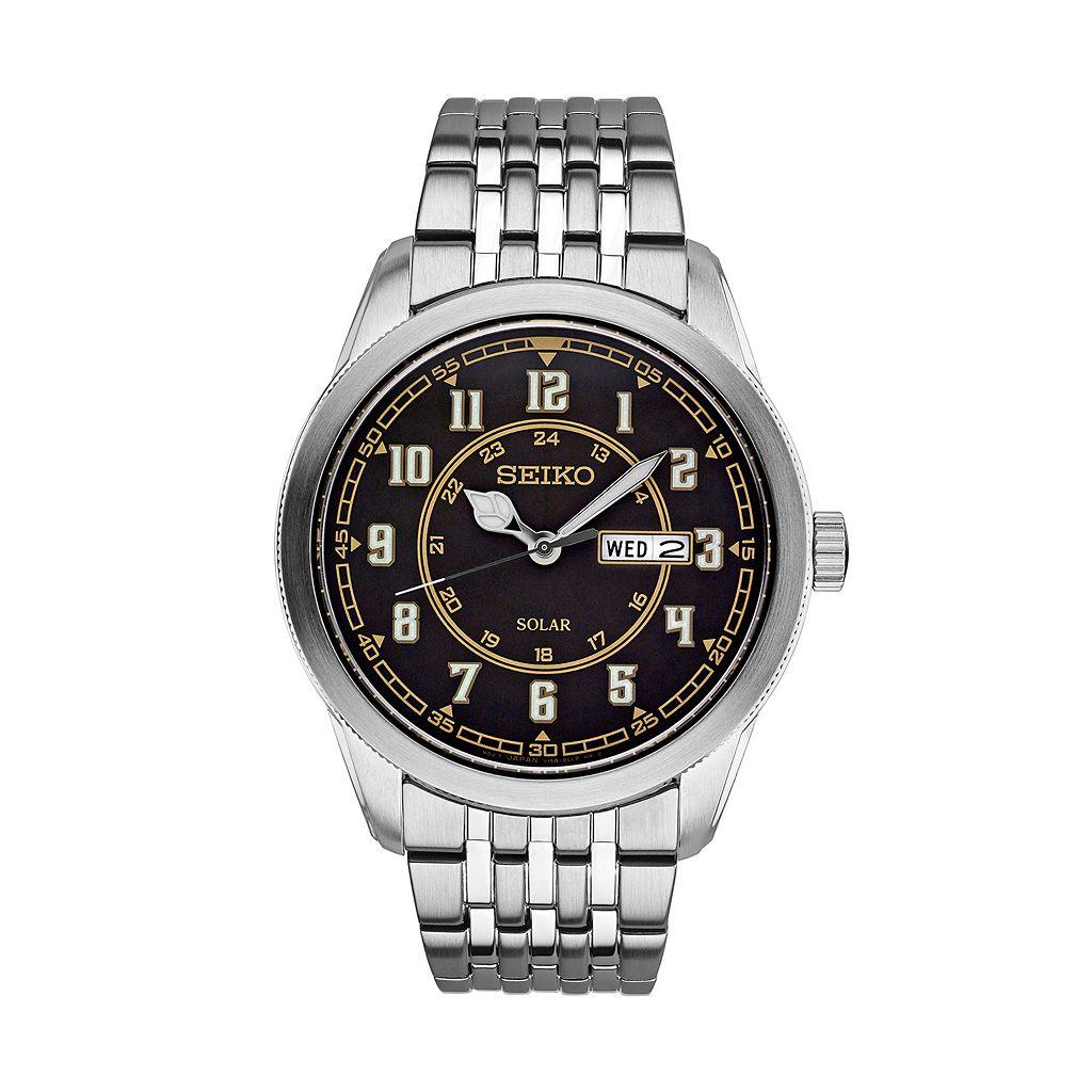 Seiko Men's Recraft Stainless Steel Solar Watch - SNE445