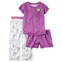 Girls 4-14 Carter's 3-pc. Floral Dot Pajama Set