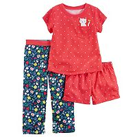 Girls 4-14 Carter's 3-pc. Floral Dot Pajama Set