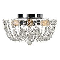 Kenroy Home Flush Mount Glass Chandelier Ceiling Light