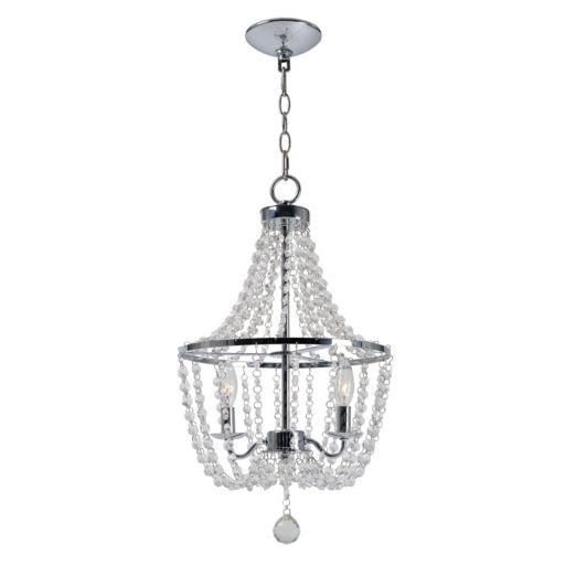 Kenroy Home Traditional 2-Light Glass Chandelier