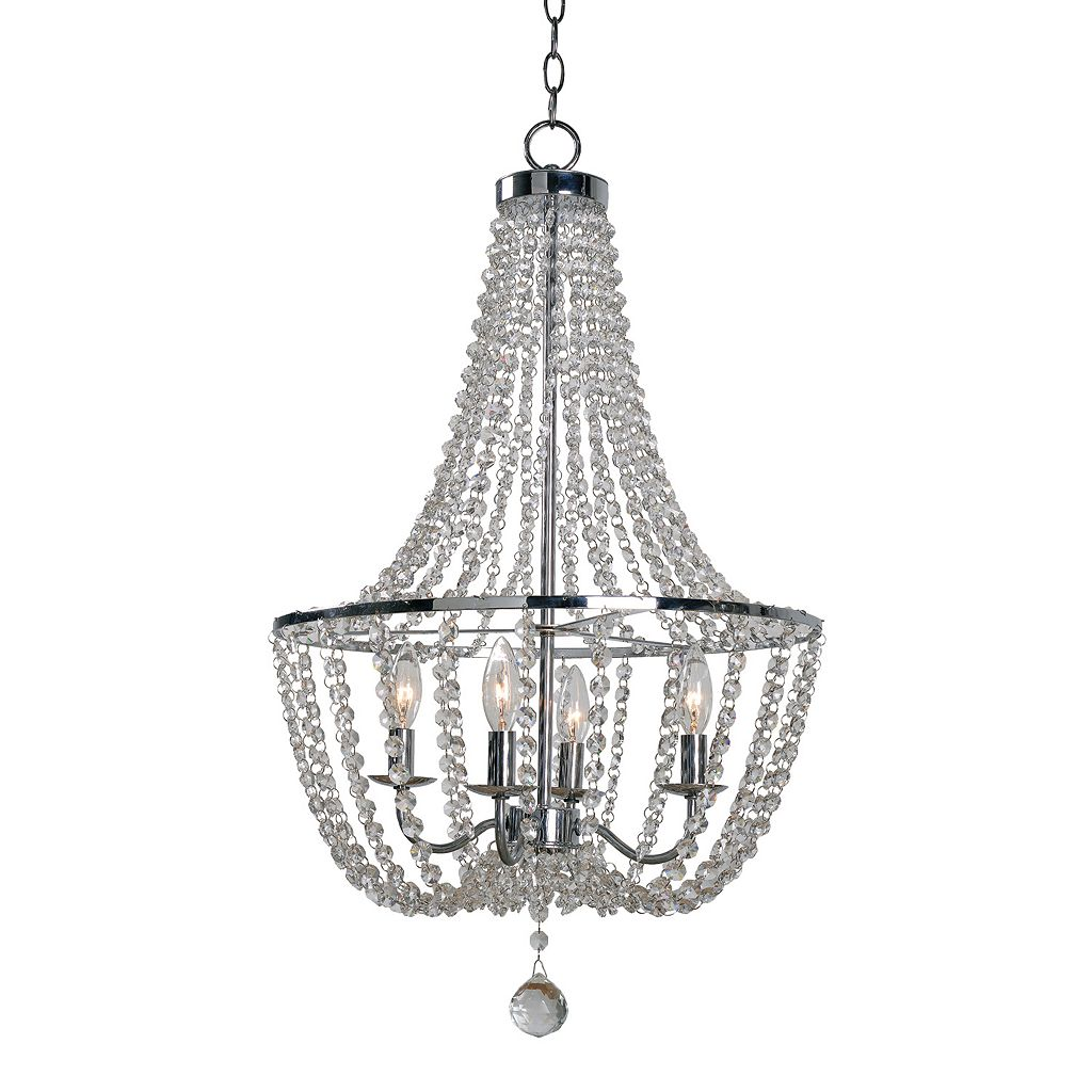 Kenroy Home Traditional 4-Light Glass Chandelier