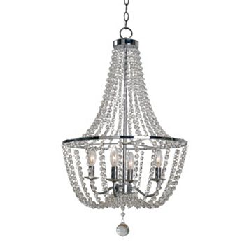 Kenroy Home Traditional 4-Light Glass Chandelier