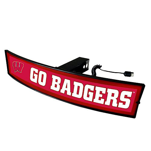 FANMATS Wisconsin Badgers Light Up Trailer Hitch Cover
