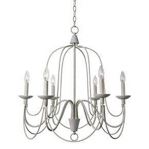 Kenroy Home White 6-Light Chandelier
