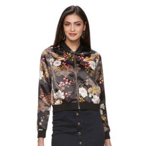 Women's Jennifer Lopez Floral Sequin Bomber Jacket