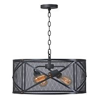 Kenroy Home Black 3-Light Pendant Ceiling Lamp