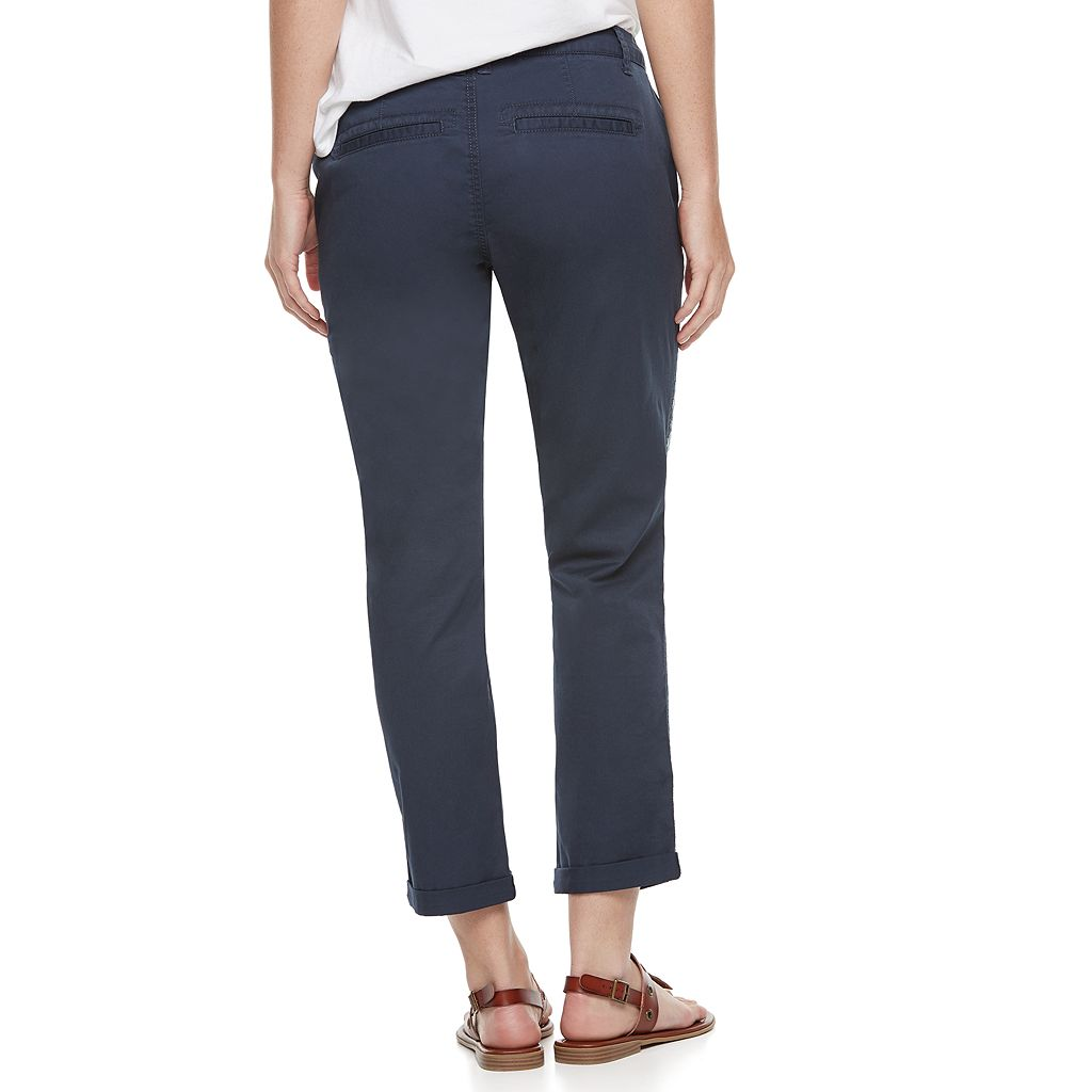 Women's SONOMA Goods for Life™ Embroidered Crop Pants