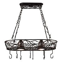 Kenroy Home 2-Light Ceiling Pot Rack