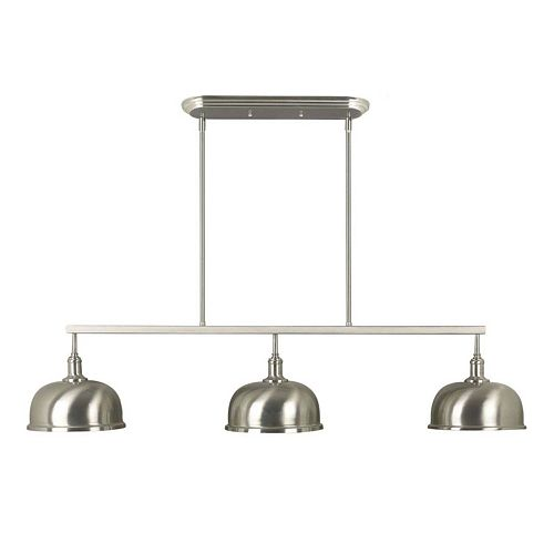 Kenroy Home Brushed Steel 3-Light Ceiling Lamp