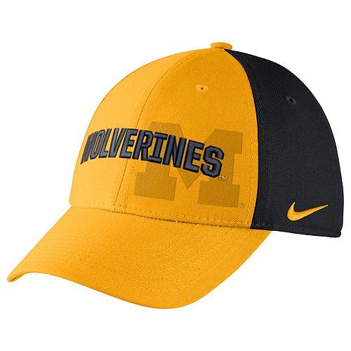 Adult Nike Michigan Wolverines Mesh Dri-FIT Flex Cap