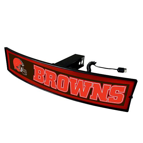 FANMATS Cleveland Browns Light Up Trailer Hitch Cover