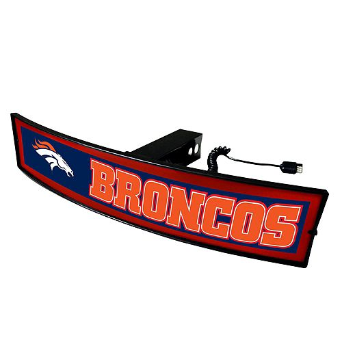 FANMATS Denver Broncos Light Up Trailer Hitch Cover