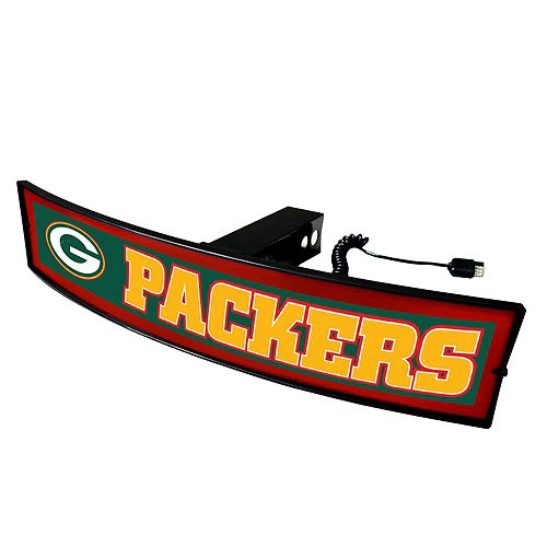 FANMATS Green Bay Packers Light Up Trailer Hitch Cover