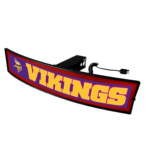 FANMATS Minnesota Vikings Light Up Trailer Hitch Cover