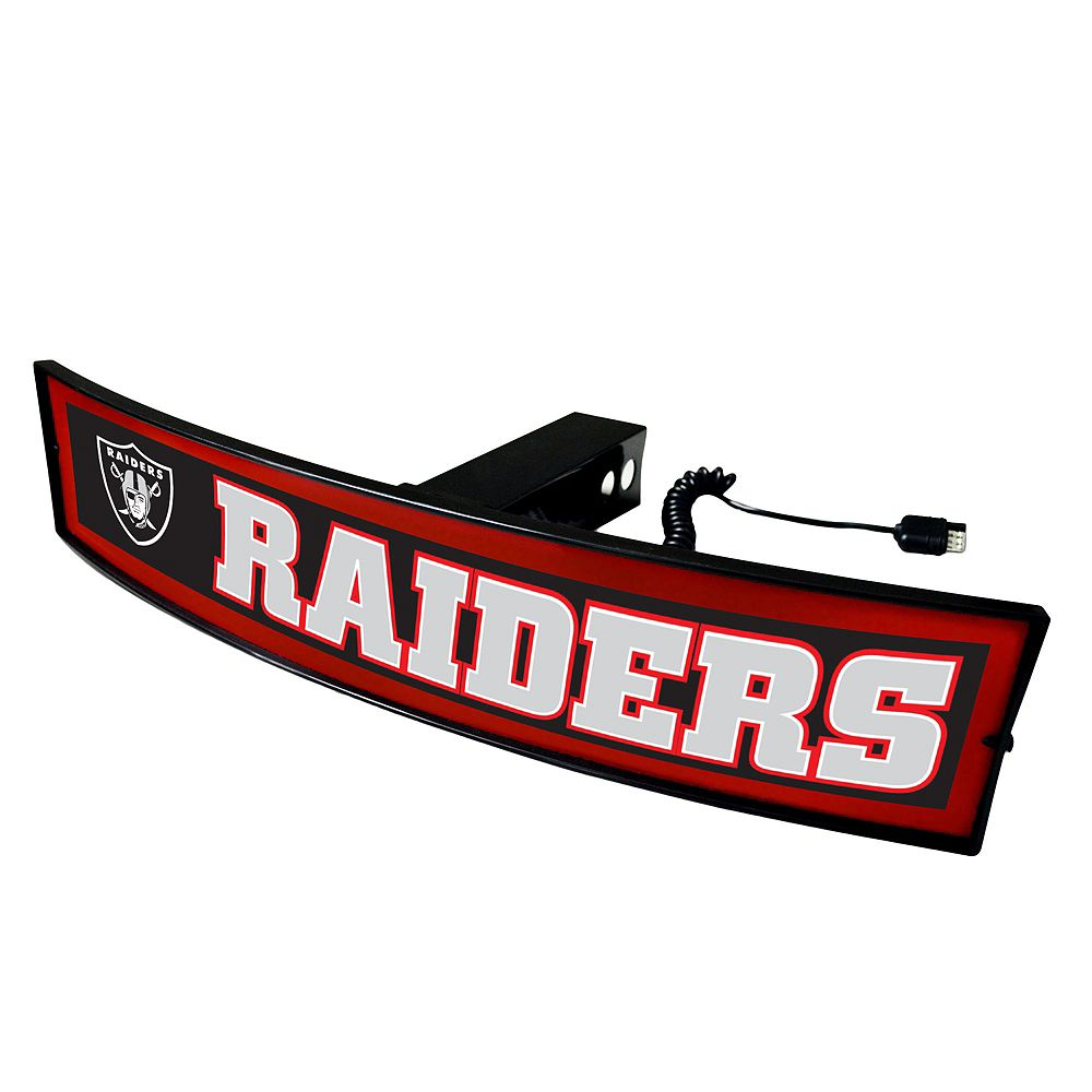 FANMATS Oakland Raiders Light Up Trailer Hitch Cover