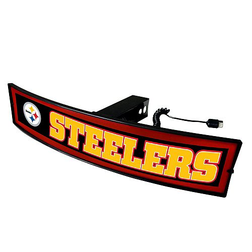FANMATS Pittsburgh Steelers Light Up Trailer Hitch Cover