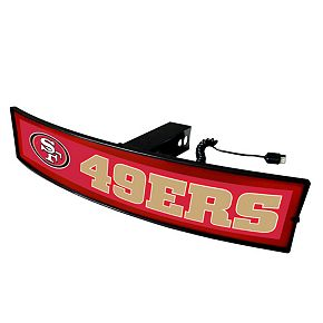 FANMATS San Francisco 49ers Light Up Trailer Hitch Cover