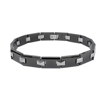 LYNX Ceramic Tungsten Black & Gray Bracelet - Men