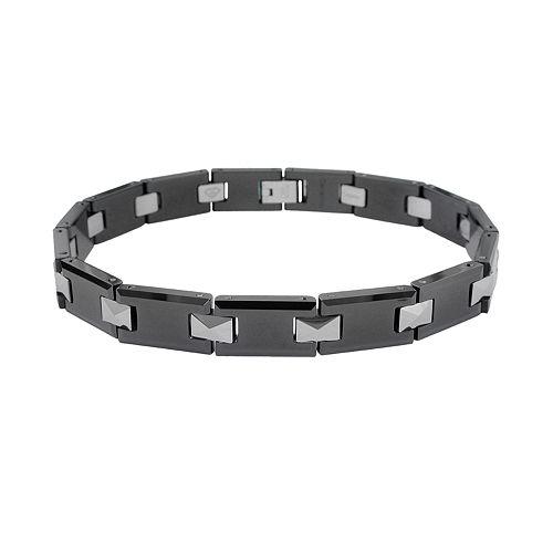 LYNX Ceramic Tungsten Black & Gray Bracelet - Men