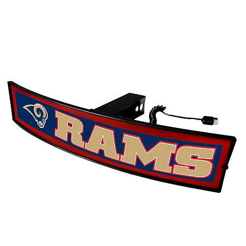 FANMATS Los Angeles Rams Light Up Trailer Hitch Cover