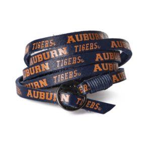 Adult Auburn Tigers Leather Wrap Bracelet