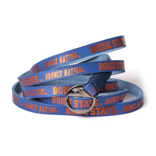 Adult Boise State Broncos Leather Wrap Bracelet