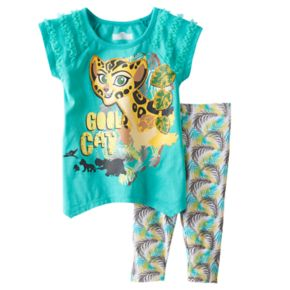 "Disney's The Lion Guard Fuli Toddler Girl ""Cool Cat"" Tunic & Palm Leaf Printed Leggings Set"