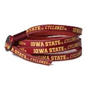 Adult Iowa State Cyclones Leather Wrap Bracelet