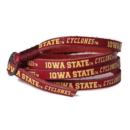 Adult Iowa State Cyclones Leather Wrap Bracelet