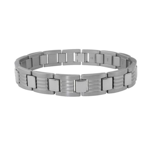 LYNX Titanium Ribbed Link Bracelet - Men