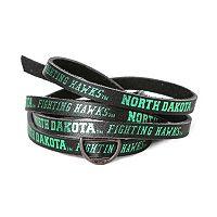 Adult North Dakota Fighting Hawks Leather Wrap Bracelet