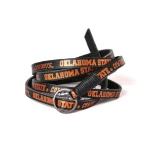 Adult Oklahoma State Cowboys Leather Wrap Bracelet