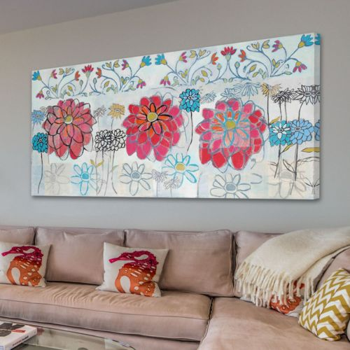 Marmont Hill Pink Zinnia Canvas Wall Art