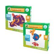 YOXO / PBS KIDS Hazel the Hippo + Ozzie the Ostrich Building Toy Set