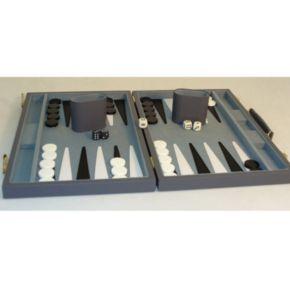 WorldWise Imports 15-in. Grey Vinyl Backgammon Set