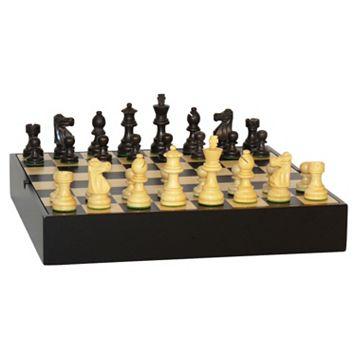 WorldWise Imports 3-in. Maple Veneer Black French Chess Set