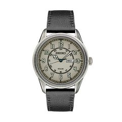 Seiko Men's Recraft Leather Solar Watch