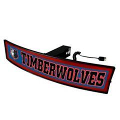 FANMATS Minnesota Timberwolves Light Up Trailer Hitch Cover