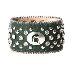 Women's Michigan State Spartans Glitz Cuff Bracelet